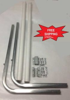 BOAT TRAILER PARTS PLACE - TAMPA FLORIDA -GUIDE POLES SET W/HARDWARE PV2160-3