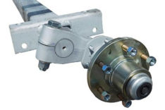 3-1/2 X3-1/2 Torsion axle W 6-Lug Hubs