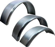 Round Galv Fenders Sgl Axel