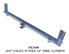 """Under Carriage ANGLE 63.5"""" W/8"""" STEP 13"""" TIRE PK2600"""