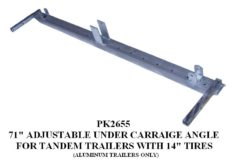 """Under Carriage ANGLE 71"""" TDM 14"""" TIRES PK2655"""