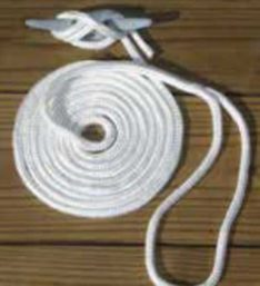 BOAT TRAILER PARTS PLACE - TAMPA FLORIDA - BRAIDED NYLON DOCK LINES W/EYE SPLICE ON BITTER END