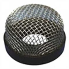 """Boat Trailer Parts Place - Tampa Florida -STAINER Designed to provide effective, dependable protection against trash or fish scales which could clog drains in bait wells or pump impellers in aeration systems. • Made from formed stainless steel wire mesh cloth and then molded into a black PVC base with internal threads this unit is non-corrosive, functional and looks extremely good installed on any boat. • Simply screws onto threaded pump intake in livewell or on exterior of boat. • Thread: 3/4""""-14. • Screws onto thru-hull fitting. • Thread: 1""""-8. T-H Marine Aerator Stainless Steel Wire Mesh Strainers • Designed to enable a 3/4"""" thru-hull passage thru a transom or livewell wall and to attach an aerator screen on the other side. • This fitting allows the screen to mount flush against the wall with no extra nut to secure the fitting. • Includes: Thru-hull (THSM-1) and 641642 (AS-1) wire mesh strainer. T-H Marine Thru-Hull Strainer Mount • Made of black poly material. • An externally installed filter for aeration systems. • It prevents aerator system problems due to foreign matter (grass, weeds and leaves) from clogging pump. • Installs with three screws over intake for aerator pumps. • This injection-molded black filter is the same as aerator filter above except for mounting. • Simply install the base mount over aerator pump tube before installing nut, then simply snap aerator filter in place. • Filter will fit over 3/4"""" or 1 1/8"""" thru-hull for overflow mounting. • Allows for easier cleaning of filter. T-H Marine Aerator Filters 641642"""