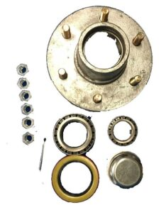 Boat Trailer Parts Place - Tampa Florida -HUB 6 LUG GALVANIZED (OEM) COMPLETE WITH BEARINGS SEAL LUG NUTS AND COTTER PIN PD2502