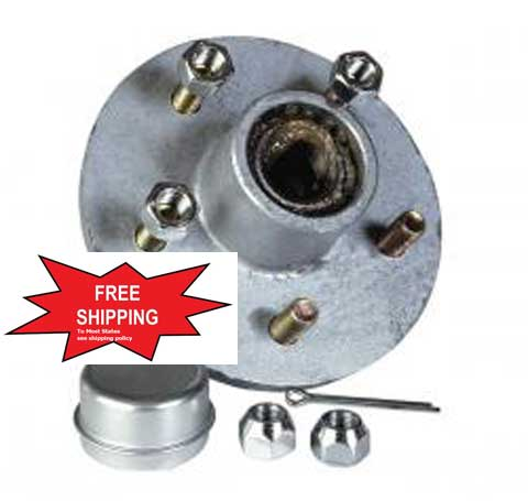 PREGREASED HUBS`GALVANIZED 5 LUG Boat Trailer Parts Place - Tampa FlorIda